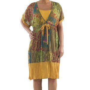 Plus Size 2 Layered Chiffon Dress - La Mouette